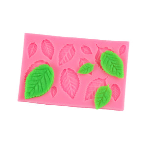 Simple Leaf Mold: Fondant + Chocolate | www.bakerspartyshop.com