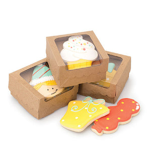 Sweet Sugarbelle Cookie Boxes: Kraft | www.bakerspartyshop.com