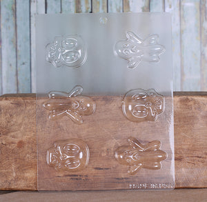 Halloween Candy Mold: Ghost & Skull | www.bakerspartyshop.com