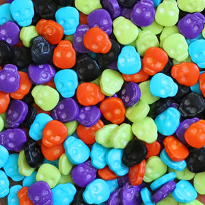 Colored Skull Candy Sprinkles | www.bakerspartyshop.com
