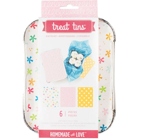 Small Birthday Treat Tins | www.bakerspartyshop.com