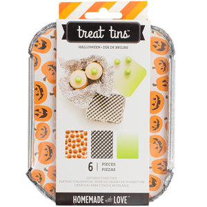 Small Halloween Treat Tins | www.bakerspartyshop.com