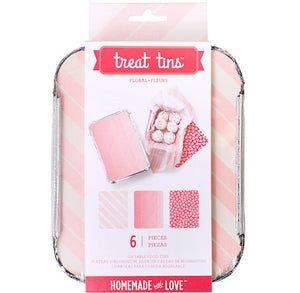 Small Pink Treat Tins | www.bakerspartyshop.com