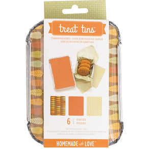 Small Thanksgiving Treat Tins | www.bakerspartyshop.com