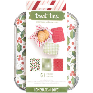 Small Christmas Treat Tins | www.bakerspartyshop.com