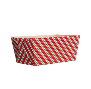 Small Christmas Loaf Pans: Stripe | www.bakerspartyshop.com