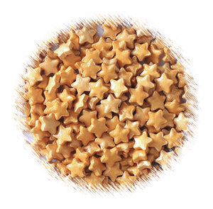 Gold Star Candy Sprinkles: Small | www.bakerspartyshop.com