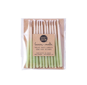 Green Birthday Candles: 3"