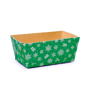 Small Christmas Loaf Pans: Green | www.bakerspartyshop.com