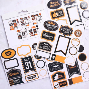 Small Halloween Sticker Labels | www.bakerspartyshop.com