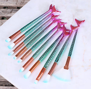 Pastel Mermaid Paint Brush Set: Small | www.bakerspartyshop.com