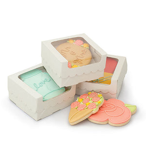 Sweet Sugarbelle Cookie Boxes: White | www.bakerspartyshop.com