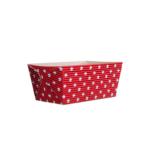 Small Loaf Pans: Red Polka Dot | www.bakerspartyshop.com