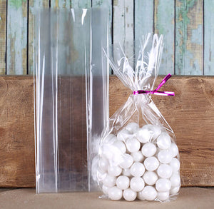 Narrow Gusseted Cellophane Bags: 3 x 8.75"