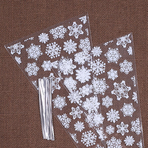 Snowflake Cone Bags | www.bakerspartyshop.com