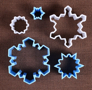 Winter Snowflake Cookie Cutter Set | www.bakerspartyshop.com