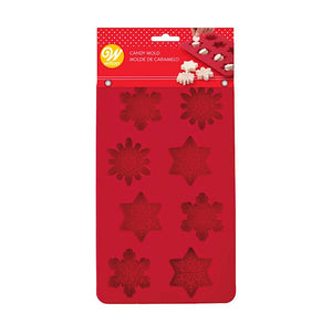 Silicone Christmas Candy Mold: Snowflake | www.bakerspartyshop.com