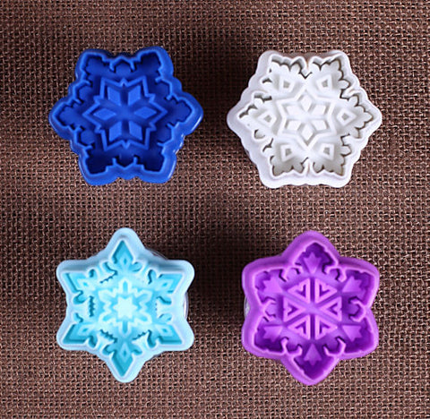 Snowflake Cookie Stamp Cutters | www.bakerspartyshop.com - 1
