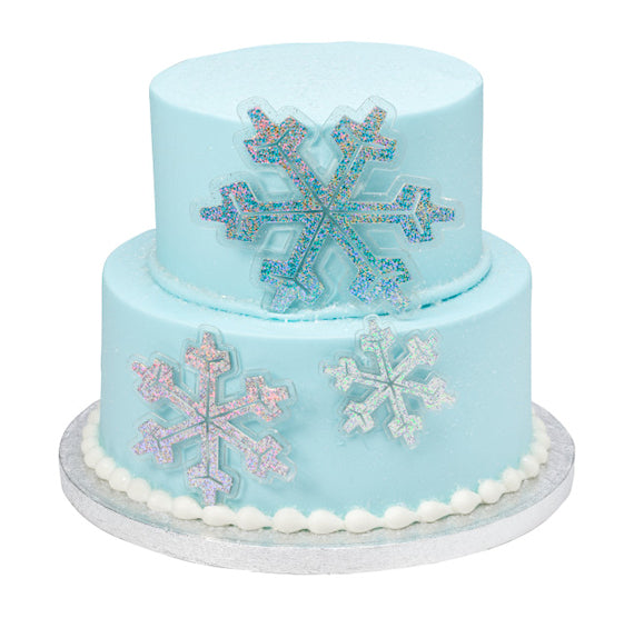Snowflake Cake Toppers, Glitter Snowflake Toppers, Frozen ...