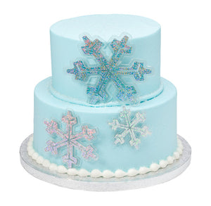 Snowflake Cake Toppers | www.bakerspartyshop.com
