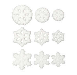 Assorted Snowflake Sugar Toppers | www.bakerspartyshop.com