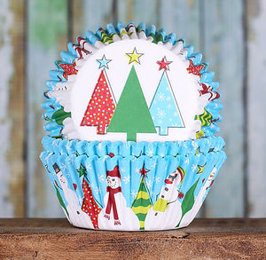 Snowman Cupcake Liners | www.bakerspartyshop.com