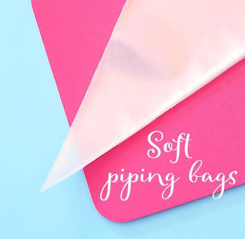 Soft Disposable Piping Bags | www.bakerspartyshop.com