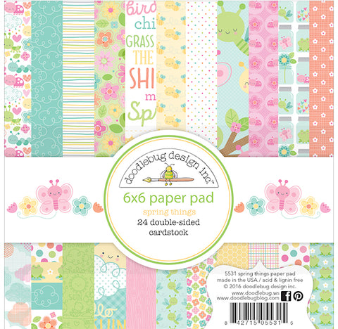 Spring Paper Pad | www.bakerspartyshop.com