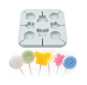 Silicone Lollipop Mold: Spring Flowers