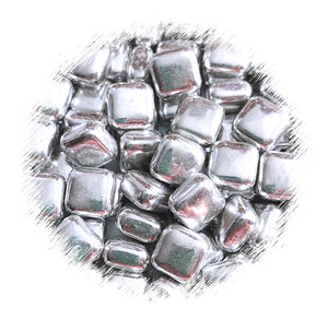 Square Silver Dragees | www.bakerspartyshop.com