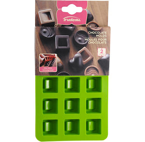 Small Fancy Square Candy Molds | www.bakerspartyshop.com
