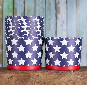 Large Patriotic Baking Cups | www.bakerspartyshop.com