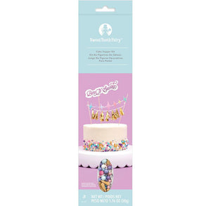 Unicorn Cake Topper Kit with Sprinkles | www.bakerspartyshop.com