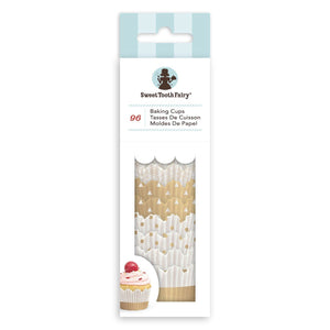 Sweet Tooth Fairy Gold Mini Cupcake Liners | www.bakerspartyshop.com
