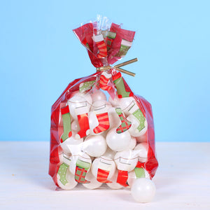 Christmas Cellophane Bag Kit: Christmas Stockings | www.bakerspartyshop.com