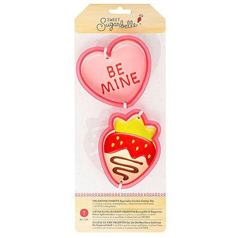 Sweet Sugarbelle Strawberry and Heart Cookie Cutters | www.bakerspartyshop.com