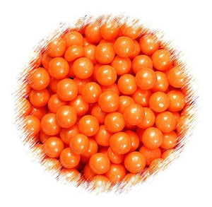 Orange Sugar Pearls: 7mm | www.bakerspartyshop.com