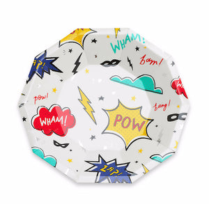 Small Superhero Plates | www.bakerspartyshop.com