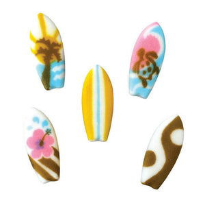 Surfboards Sugar Toppers | www.bakerspartyshop.com