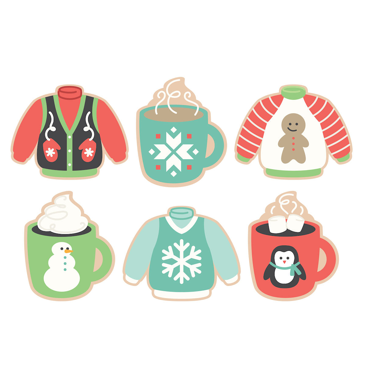 Sweet Sugarbelle Ugly Sweater Cookie Cutters