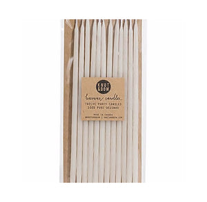 Ivory Birthday Candles: 6"