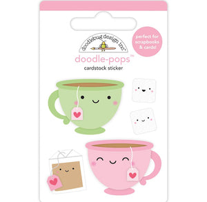 Two for Tea Stickers | www.bakerspartyshop.com