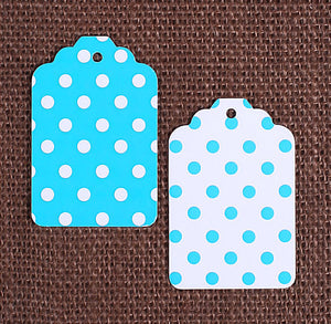 Teal Gift Tags: Polka Dot | www.bakerspartyshop.com