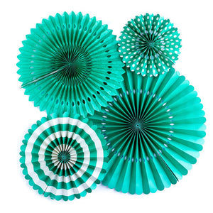 Teal Party Fans | www.bakerspartyshop.com