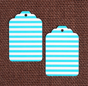 Teal Gift Tags: Stripe | www.bakerspartyshop.com