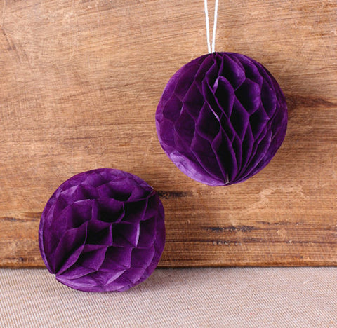 Dark Purple Honeycomb Tissue Balls: 2"