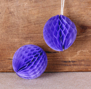 Grape Purple Honeycomb Tissue Balls: 2"