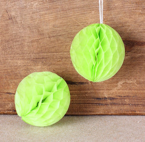 Lime Green Honeycomb Tissue Balls: 2"