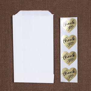 Small Gold Thank You Favor Bag Kit: Heart | www.bakerspartyshop.com