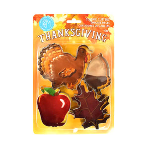 Thanksgiving Cookie Cutter Set: 4 Piece | www.bakerspartyshop.com